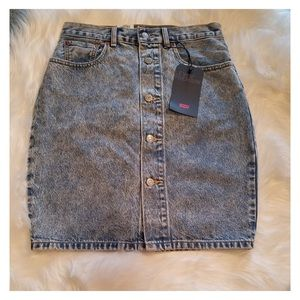 060ec7c676 Levi's Skirts | Levis Premium Stone Wash Button Thru Mom Skirt ...
